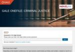 Image link to Gale Criminal Justice