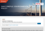 Image link to Gale Environmental Studies & Policy
