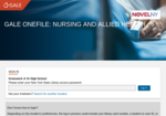 Image link to Gale Nursing & Allied Health