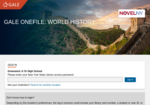 Image link to Gale World History
